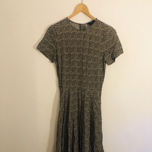 H&M pleated Skirt Fit&Flare Dress